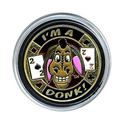 I'm A Donk Gold - Silver Poker Card Guard  FREE SHIPPING