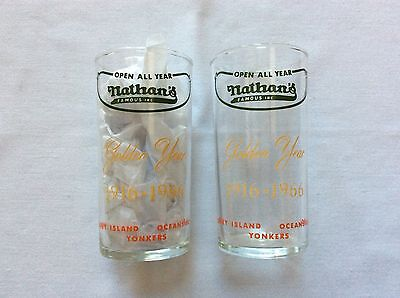 2 - Nathan's Famous-Coney Island Golden Year 1916-1966 Glasses