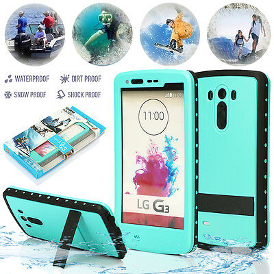 Mint Green Waterproof Shockproof Dirt Snow Proof Stand Case Cover For LG G3 D855