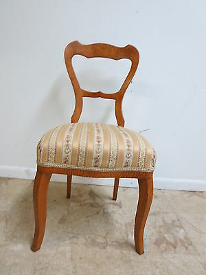 Antique Country French Ladies writing Desk Vanity Side chair