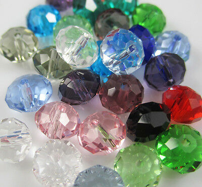 NEW Jewelry Faceted 100 pcs MIX color #5040 3x4mm Roundelle Crystal Beads DIY