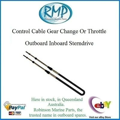 A New Control Cable 15' Throttle Or Gear Shift Outboards Sterndrives # VP83015