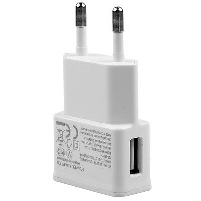 White EU Plug AC Wall Home Charger Adapter for Samsung Galaxy S4 S3 S2 Note 2