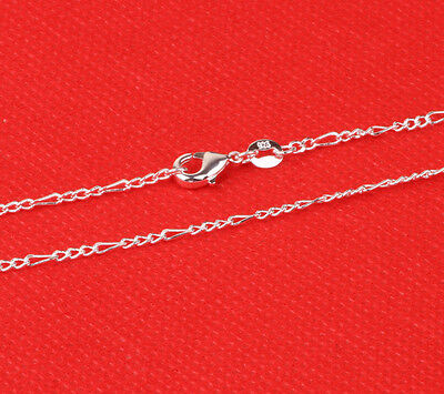 1pcs 24cm 925 Sterling Silver 3 laps Chain Necklace Fashion Jewelry F74