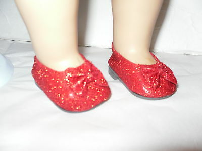 Red Glitter American Fashion Doll Clothes Shoes  #1  for  18 inch Girl Dolls