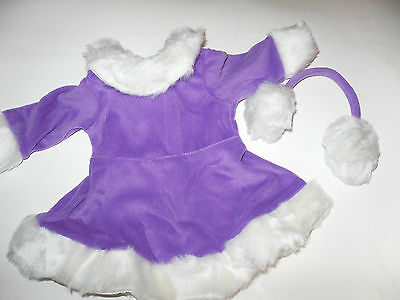 Skating Outfit Doll Clothes- Purple -fits 18 inch American Girl Dolls