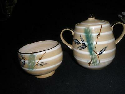 Hand Crafted Stoneware Dish And Lidded Pot Japan