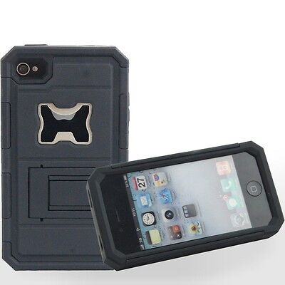 Hybrid Beer Bottle Opener Impact Hard Back Kickstand Case Cover for iPhone 4 4S