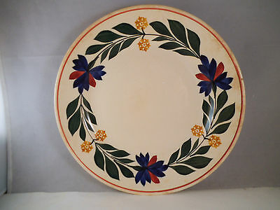 Vintage Societe Ceramique Maastricht Holland Plate Large Flowers Flower