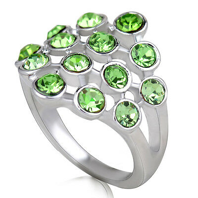 Hot sale new fashion inlaid upscale jewelry S80 Silver CZ rings    **R417-8