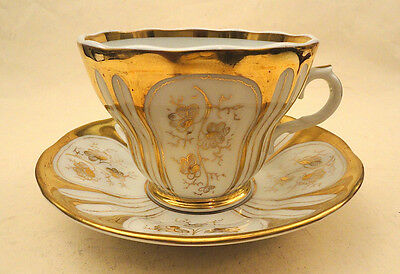 KPM HAND PAINTED CUP & SAUCER PERFECT c. 1850