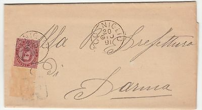 Italy Cogniglio to Parma 1891 Commercial cover