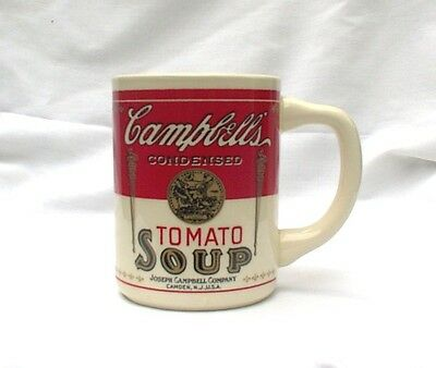 1994 Campbell's Tomato Soup Classic Label Mugs TWO Advertising Collectible