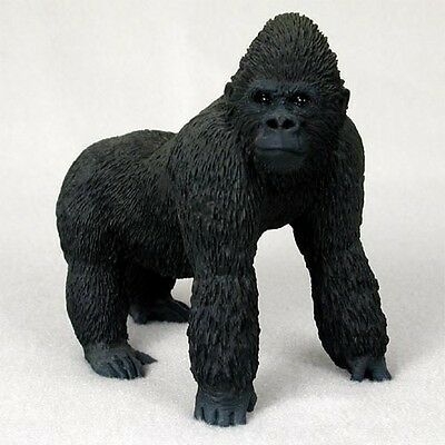 Realistic Hand Painted Cold Cast Stone Resin Gorilla Display Figurine