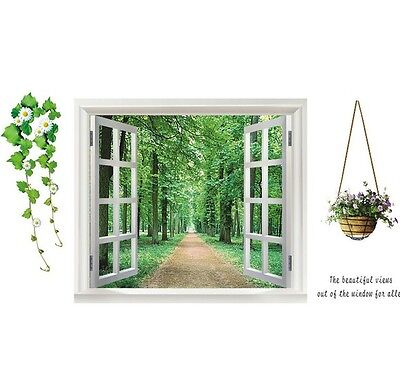Fashion Tree-lined Trail Window Removable Decal Art Mural Wall Sticker