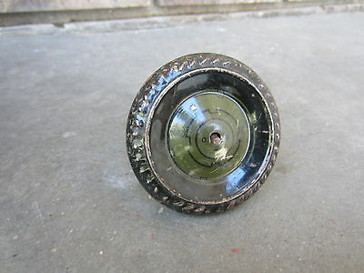 Vintage Marx Tin Litho Wind-Up Jumping Army Jeep Wheel & Axle Part Tin Part