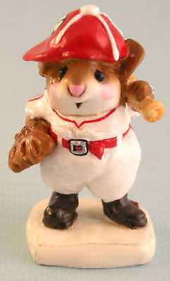 BATTER UP by Wee Forest Folk, WFF# MS-15, RED & WHITE, Baseball Player