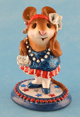 ZELDA by Wee Forest Folk, WFF# M-171, Patriotic LTD Blue, Retired 2003