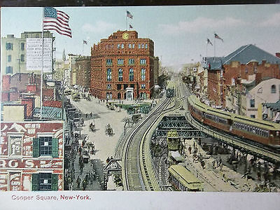 Early 1900's Cooper Square New York City, NY PC