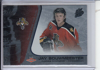 02/03 Pacific Quest for the Cup Jay Bouwmeester Rookie card #120 Ltd #/950