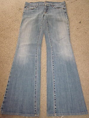 7 SEVEN FOR ALL MANKIND Distressed Low Rise Flare Jeans womens 29