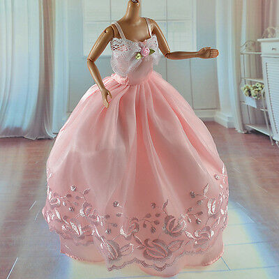 lovely New Handmade Party Clothes Fashion Dress for Noble Barbie Doll   **W04