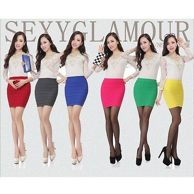 Lady Striped Sexy Slim Skirt Above Knee Clubwear Short Pencil Skirts MINI B