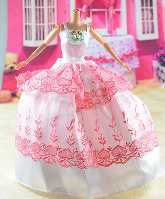 lovely New Handmade Party Clothes Fashion Dress for Noble Barbie Doll   **bab32