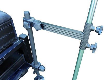 Clamp On Double Locking Brolly Bracket *Seatbox Accessory For Fishing*