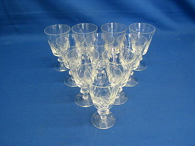 J.G. Durand, Cristal d'Arques Lead Crystal Long Stem Wine Glasses. Set of 12.