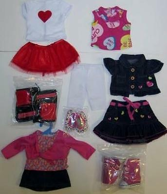 "Huge DOLL CLOTHES LOT fits 18"" AMERICAN GIRL~ Skirts and Boots Outfits #21"