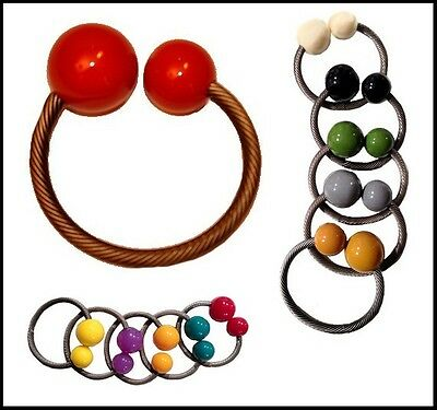 $40 each--11 colors availale--70's STYLE SILVER AND RESIN BEADS BANGLE BRACELET