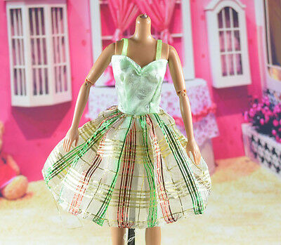 lovely New Handmade Party Clothes Fashion Dress for Noble Barbie Doll   **bab79