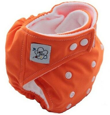 Free Shipping Orange 1PCS New Baby Reusable Washable Nappies Cloth Diaper Nappy