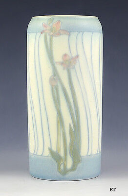 BEAUTIFUL 1916 ROOKWOOD VELLUM ART NOUVEAU FLORAL VASE by CHARLES KLINGER