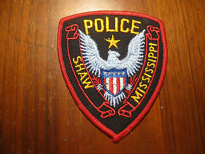 SHAW MS POLICE PATCH  (STOCK EAGLE)