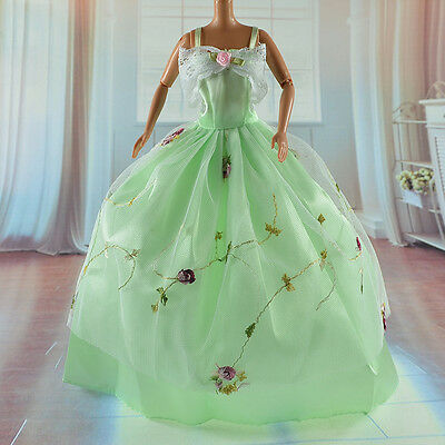 lovely New Handmade Party Clothes Fashion Dress for Noble Barbie Doll   *&*bab23