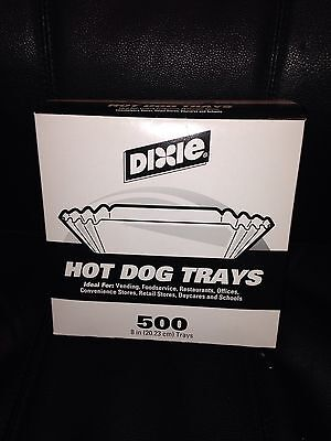 Dixie Hot Dog Tray Holder Fluted Paper Deli Food Boats Grill BBQ Party Picnic