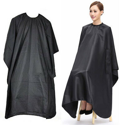 Adult Salon Hair Cut Hairdressing Barbers Cape Black Gown Clothes Protector NEW