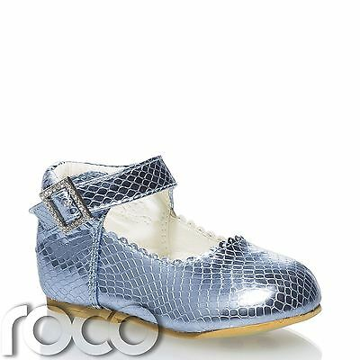 Baby Girls Blue Shoes, Little Girls Ankle Strap Shoes, Kids Shoes, Girls Shoes