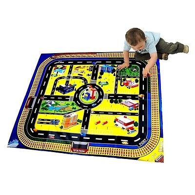 Giant City Playmat Road Train Layout Mat Boy Toy Birthday Party Bag Filler Cars