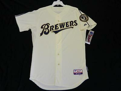 best service eddc0 e5872 AUTHENTIC MILWAUKEE BREWERS FANS CHOICE Ivory Youniform Jersey RARE!!!! 40