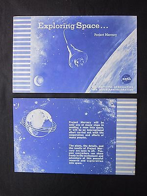 Exploring Space... Project Mercury NASA Booklet Illustrated 1960 rare