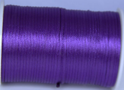 purple 2MM Rattail Satin Cord Macrame Beading Nylon kumihimo String DIY 10yd