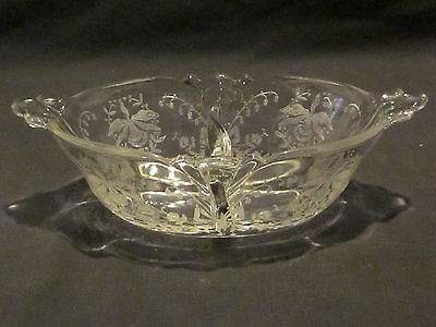 Heisey Orchid  Oval Dressings Bowl