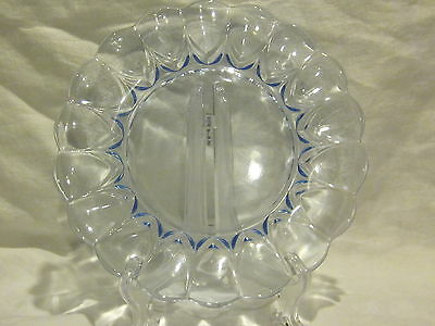 New Martinsville Janice Blue Salad Plates, Cups & Saucers (4)