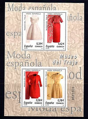 Spain 2007 Spanish Fashion Sheetlet 4 MNH