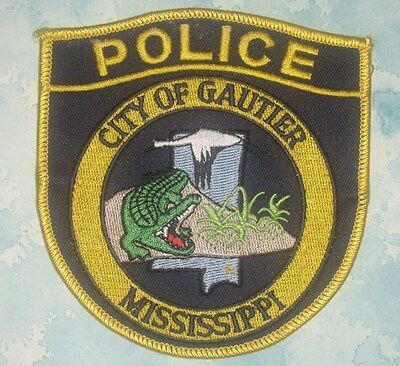 """City of Gautier Police Patch - Mississippi - 4 1/4"""" x 4 1/2"""""""