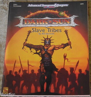 D&D - AD&D 2nd Edition- DARK SUN - SLAVE TRIBES -TSR - DSR1 - DUNGEONS&DRAGONS
