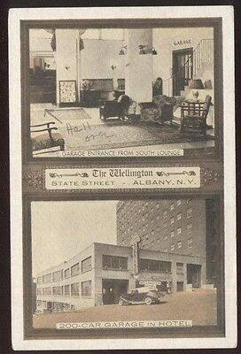 Postcard ALBANY New York/NY  Wellington Hotel Dual view
